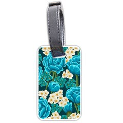Light Blue Roses And Daisys Luggage Tags (one Side)