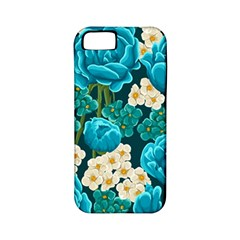 Light Blue Roses And Daisys Apple Iphone 5 Classic Hardshell Case (pc+silicone)