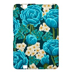 Light Blue Roses And Daisys Kindle Fire Hd 8 9