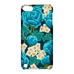 Light Blue Roses And Daisys Apple Ipod Touch 5 Hardshell Case With Stand