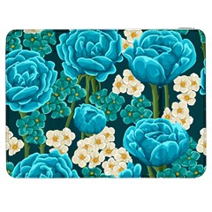 Light Blue Roses And Daisys Samsung Galaxy Tab 7  P1000 Flip Case