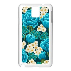 Light Blue Roses And Daisys Samsung Galaxy Note 3 N9005 Case (white)