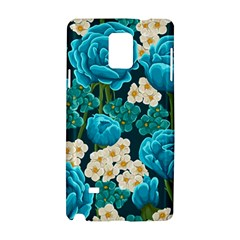 Light Blue Roses And Daisys Samsung Galaxy Note 4 Hardshell Case