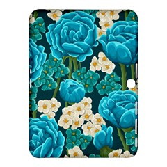 Light Blue Roses And Daisys Samsung Galaxy Tab 4 (10 1 ) Hardshell Case