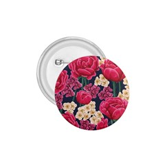 Pink Roses And Daisies 1 75  Buttons