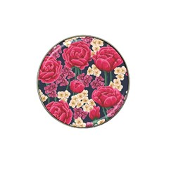 Pink Roses And Daisies Hat Clip Ball Marker