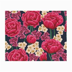 Pink Roses And Daisies Small Glasses Cloth