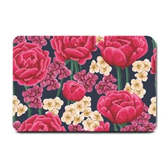 Pink Roses And Daisies Small Doormat