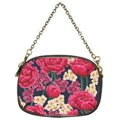 Pink Roses And Daisies Chain Purses (one Side)