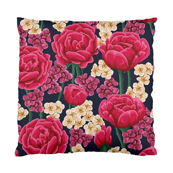 Pink Roses And Daisies Standard Cushion Case (Two Sides)