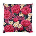 Pink Roses And Daisies Standard Cushion Case (Two Sides) Back