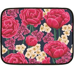 Pink Roses And Daisies Fleece Blanket (mini)