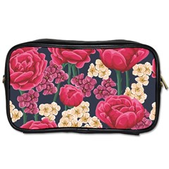 Pink Roses And Daisies Toiletries Bags
