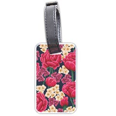 Pink Roses And Daisies Luggage Tags (two Sides)