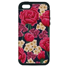 Pink Roses And Daisies Apple Iphone 5 Hardshell Case (pc+silicone)