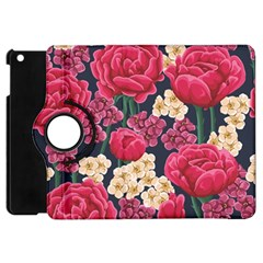 Pink Roses And Daisies Apple Ipad Mini Flip 360 Case