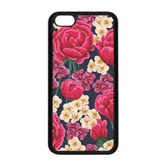 Pink Roses And Daisies Apple Iphone 5c Seamless Case (black)