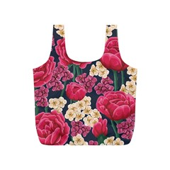 Pink Roses And Daisies Full Print Recycle Bags (s)