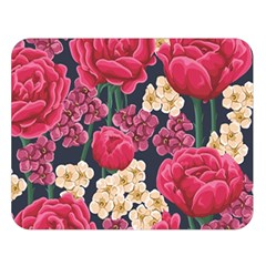 Pink Roses And Daisies Double Sided Flano Blanket (large)
