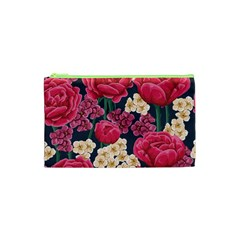 Pink Roses And Daisies Cosmetic Bag (xs)