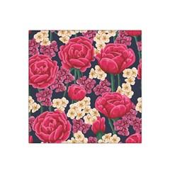 Pink Roses And Daisies Satin Bandana Scarf