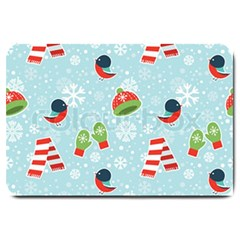 Winter Fun Pattern Large Doormat