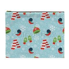 Winter Fun Pattern Cosmetic Bag (xl)