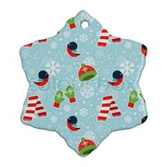 Winter Fun Pattern Snowflake Ornament (two Sides)