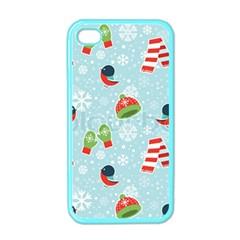 Winter Fun Pattern Apple Iphone 4 Case (color)