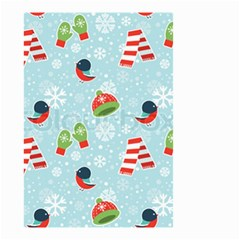 Winter Fun Pattern Small Garden Flag (two Sides)