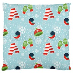 Winter Fun Pattern Standard Flano Cushion Case (one Side)