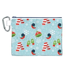 Winter Fun Pattern Canvas Cosmetic Bag (l)