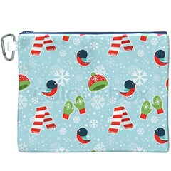 Winter Fun Pattern Canvas Cosmetic Bag (xxxl)
