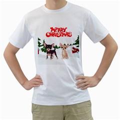 Merry Christmas Chihuahuas Men s T Shirt (white)