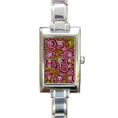 Aboriginal Art   You Belong Rectangle Italian Charm Watch