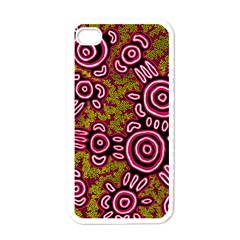 Aboriginal Art   You Belong Apple Iphone 4 Case (white)