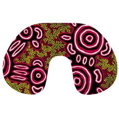 Aboriginal Art   You Belong Travel Neck Pillows