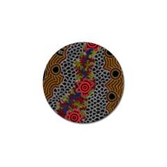 Aboriginal Art   Campsite Golf Ball Marker