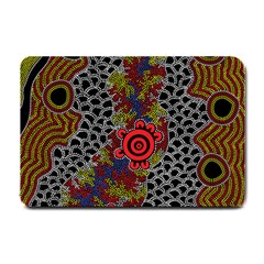 Aboriginal Art   Campsite Small Doormat