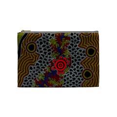 Aboriginal Art   Campsite Cosmetic Bag (medium)