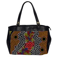 Aboriginal Art   Campsite Office Handbags (2 Sides)