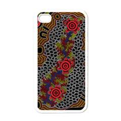 Aboriginal Art   Campsite Apple Iphone 4 Case (white)