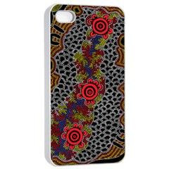 Aboriginal Art   Campsite Apple Iphone 4/4s Seamless Case (white)