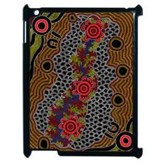 Aboriginal Art   Campsite Apple Ipad 2 Case (black)