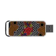 Aboriginal Art   Campsite Portable Usb Flash (one Side)