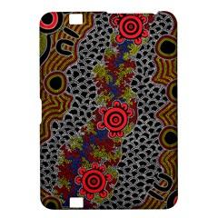Aboriginal Art   Campsite Kindle Fire Hd 8 9