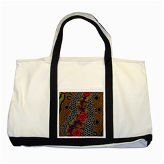 Aboriginal Art   Waterholes Two Tone Tote Bag