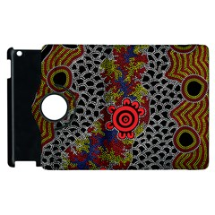 Aboriginal Art   Waterholes Apple Ipad 3/4 Flip 360 Case