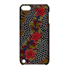 Aboriginal Art   Waterholes Apple Ipod Touch 5 Hardshell Case With Stand
