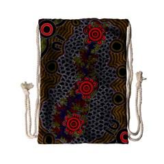 Aboriginal Art   Campsite Drawstring Bag (small)